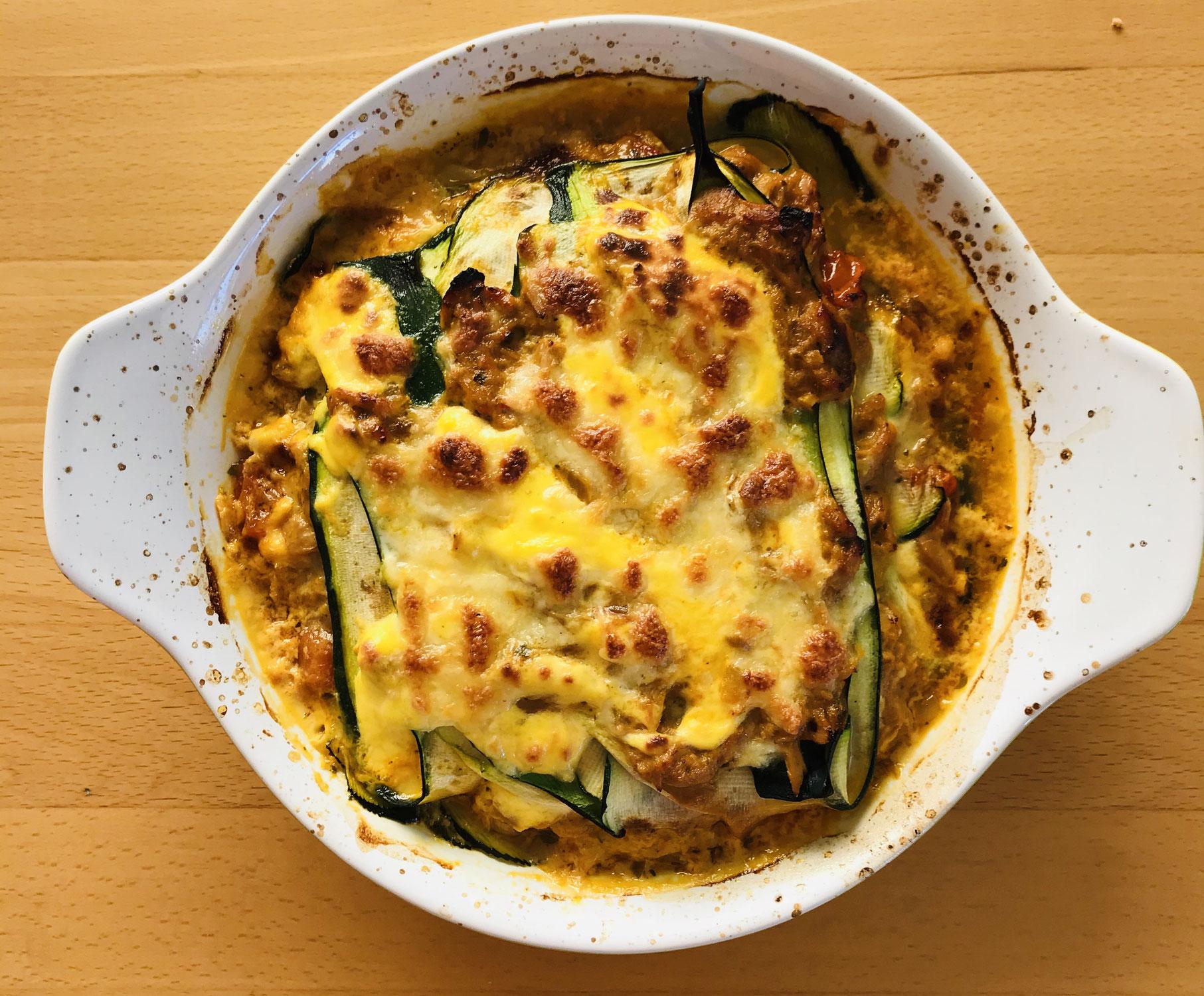 Thunfisch-Zucchini-Lasagne