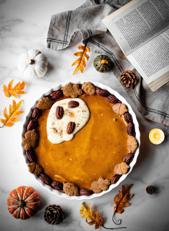 Pumpkin pie : tarte sucrée à la citrouille, sirop d'érable & épices