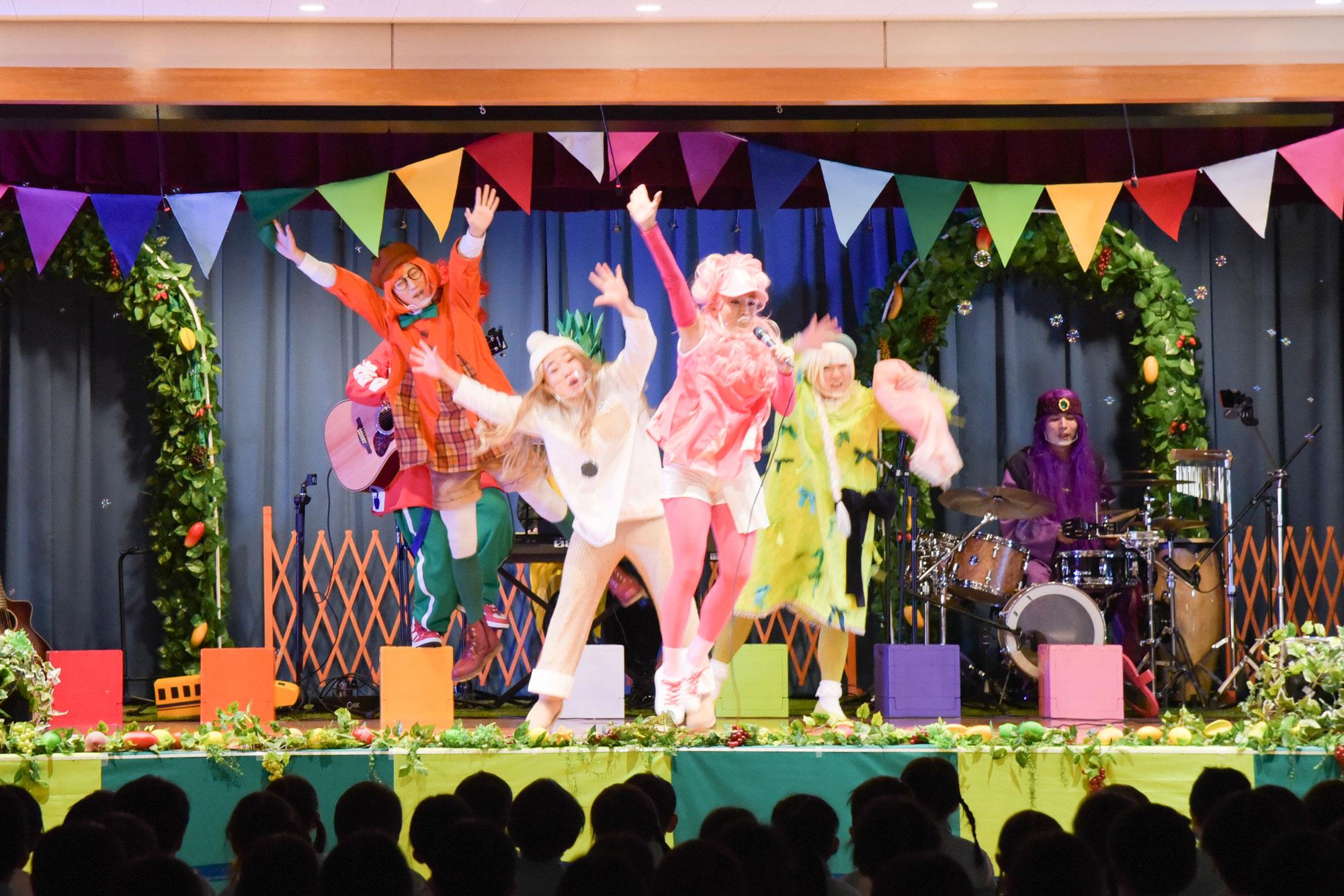 古和釜幼稚園で船橋のなしが主人公のミュージカル、ママさんダンサー達も大活躍!