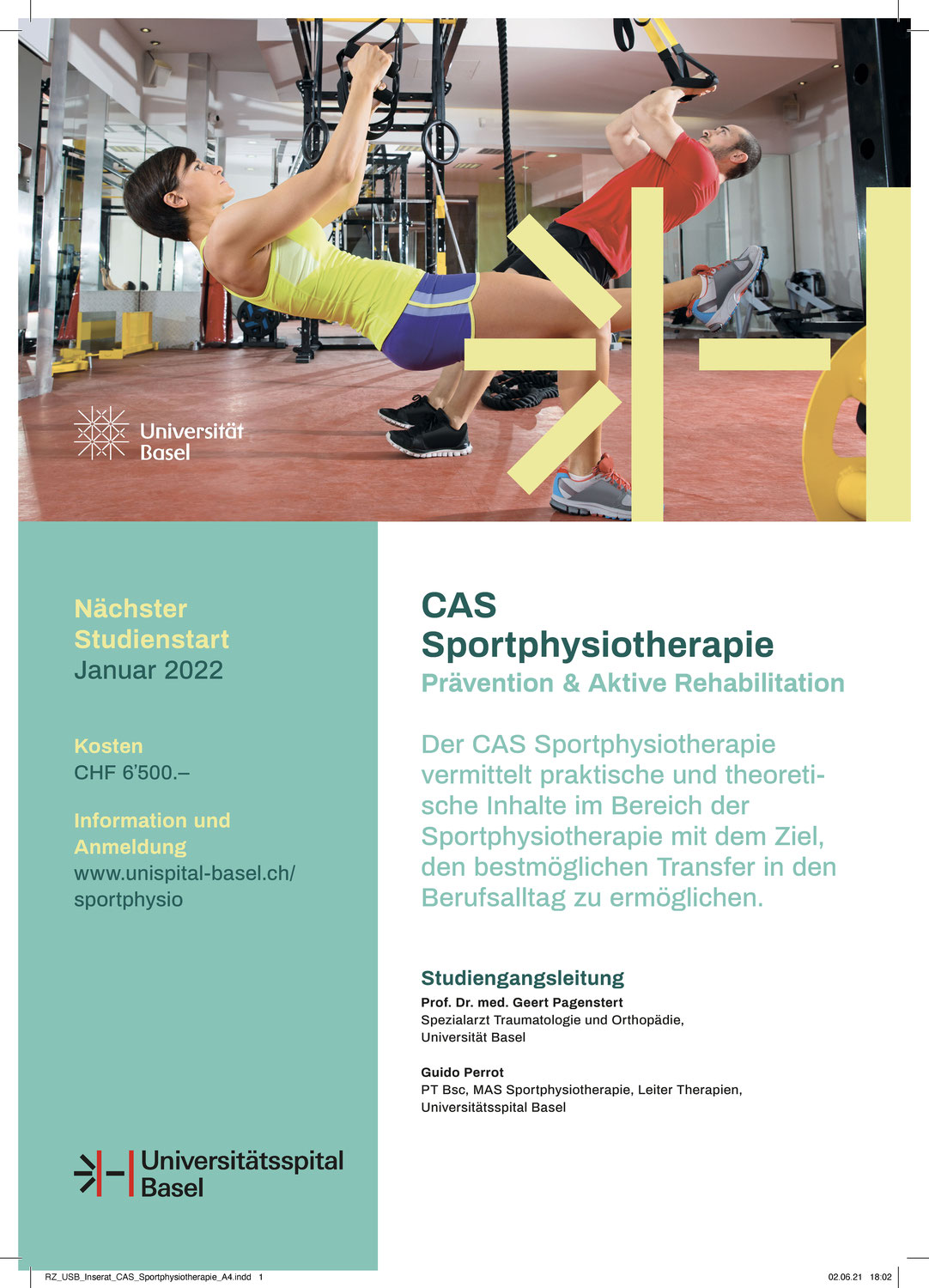 CAS Sportphysiotherapie 2022 in Basel