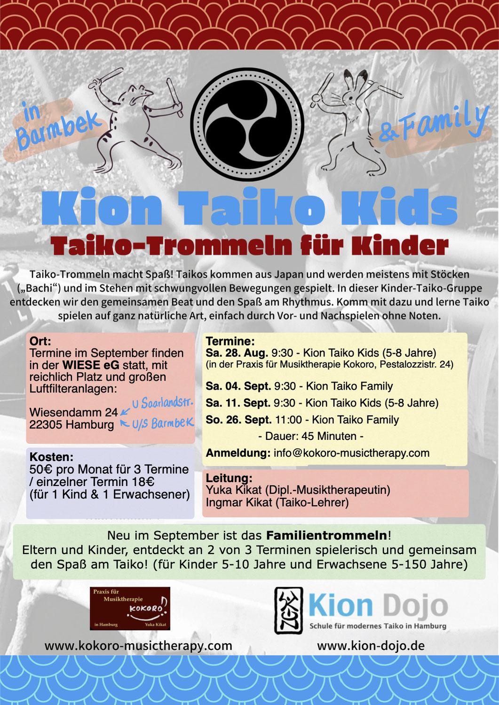 Kion Taiko Kids & Family in September
