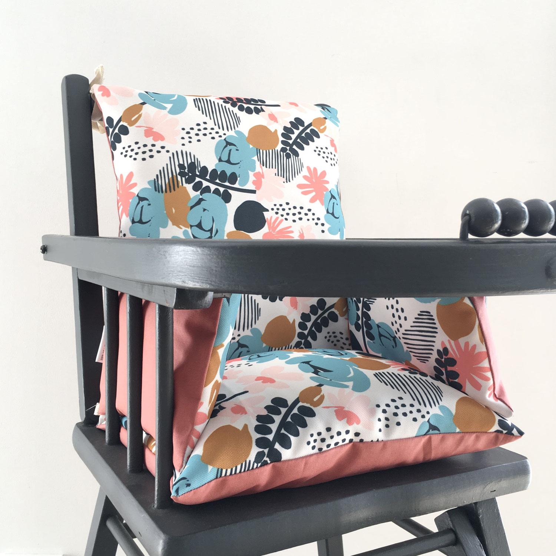 4 nouveaux coussins de chaise haute en tissu recyclé RPET