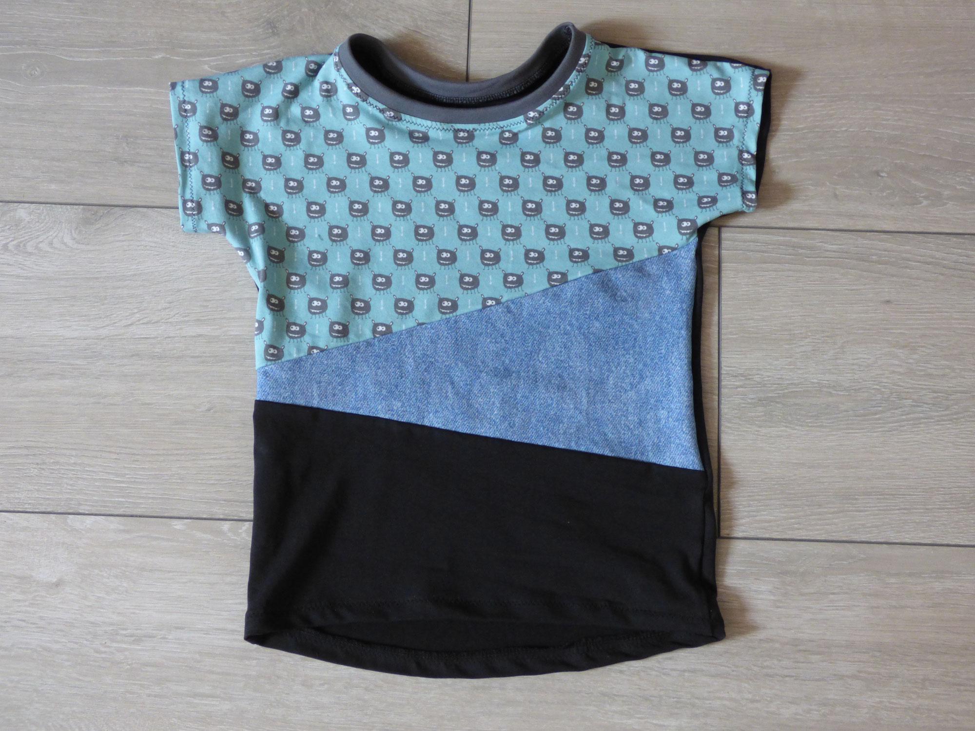 Ein neues Shirt für den Sohnemann mit ersten Color Blocking-Erfahrungen
