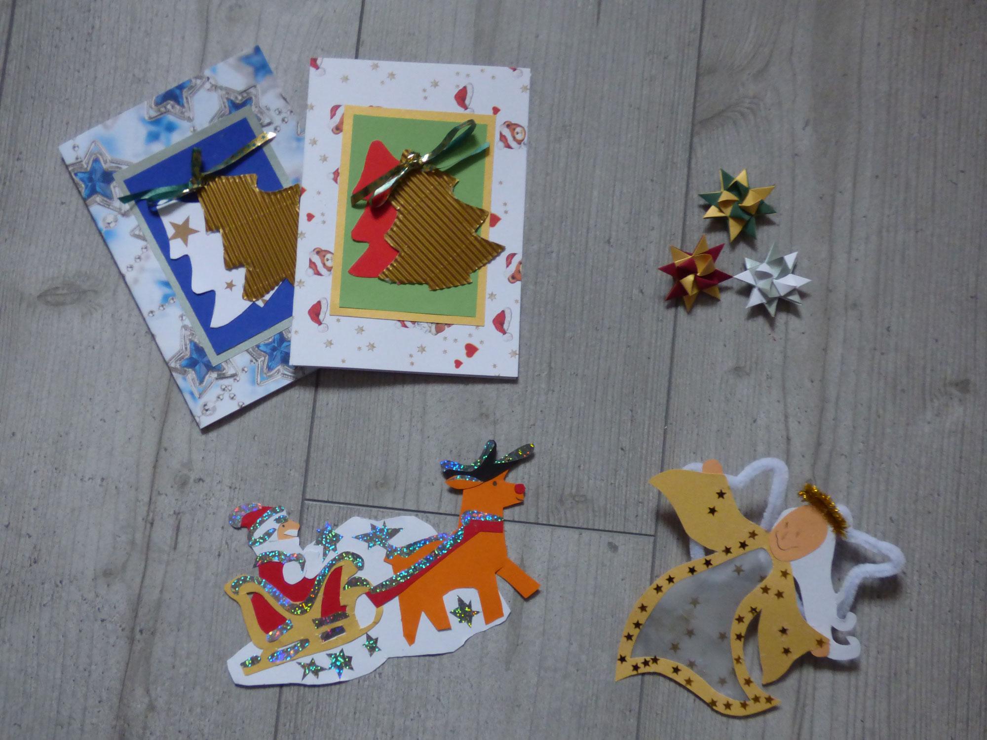 Mit Kindern basteln: Weihnachtsdeko und Weihnachtskarten selbst gemacht