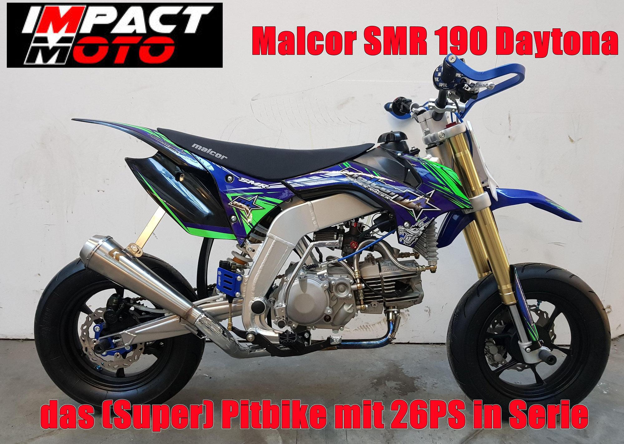Pitbike mit Daytona Motor