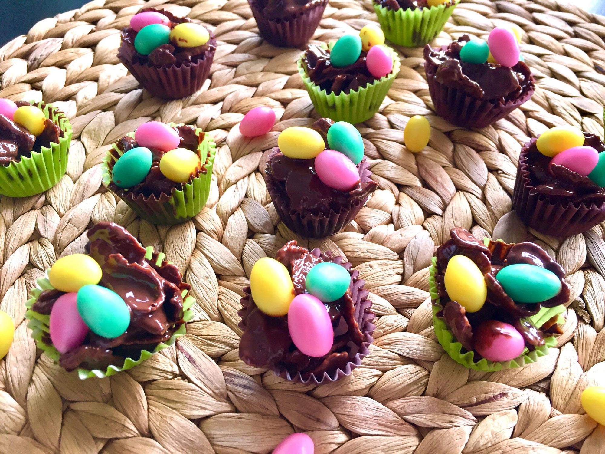 Osternest neu interpretiert ... mit Schokolade!