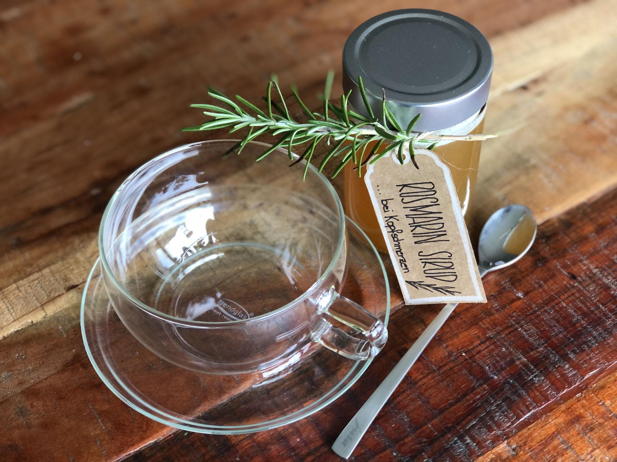 Rezept: Rosmarin Sirup gegen Kopfschmerzen