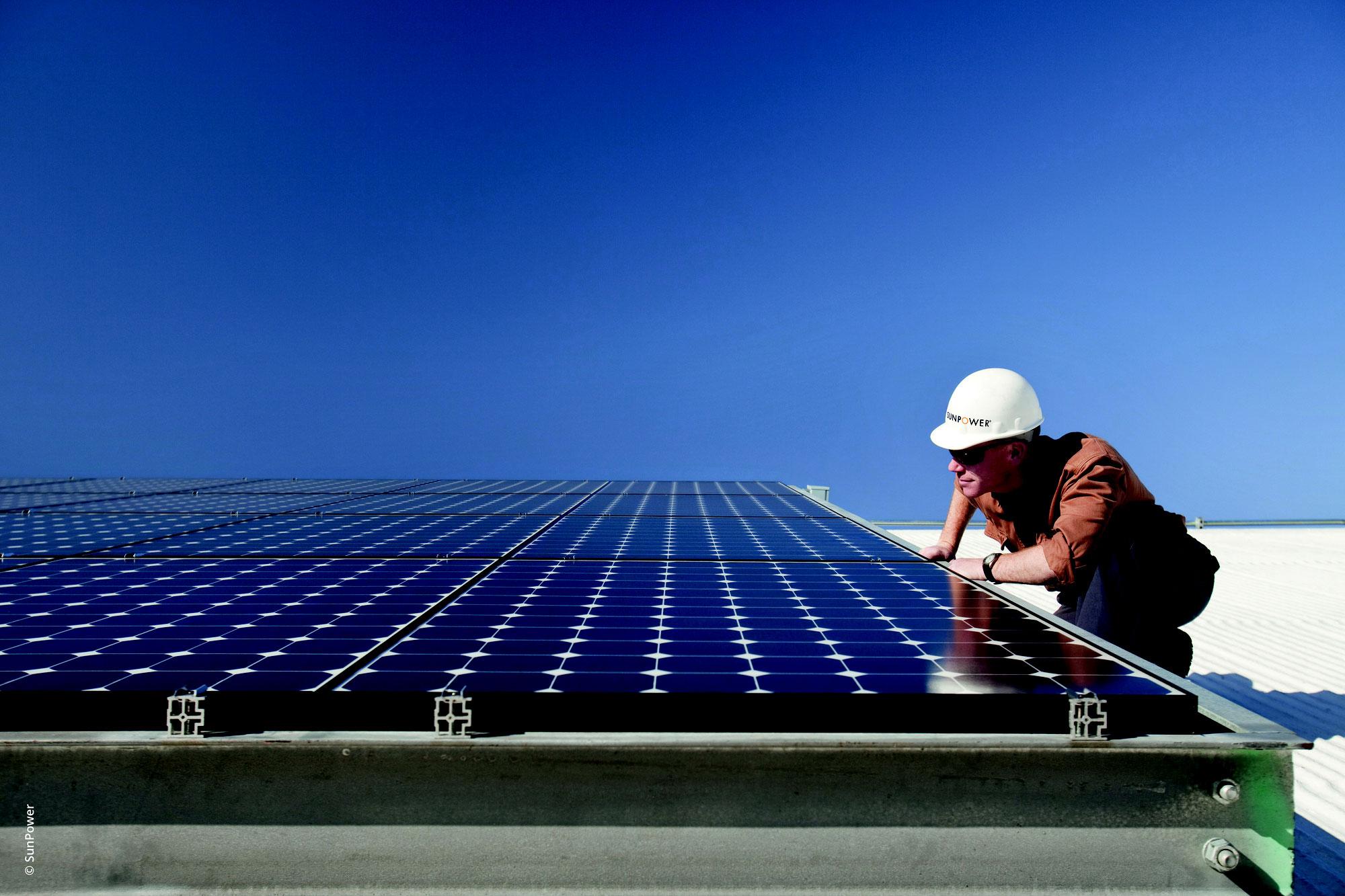 Balkon-Solar Anlage