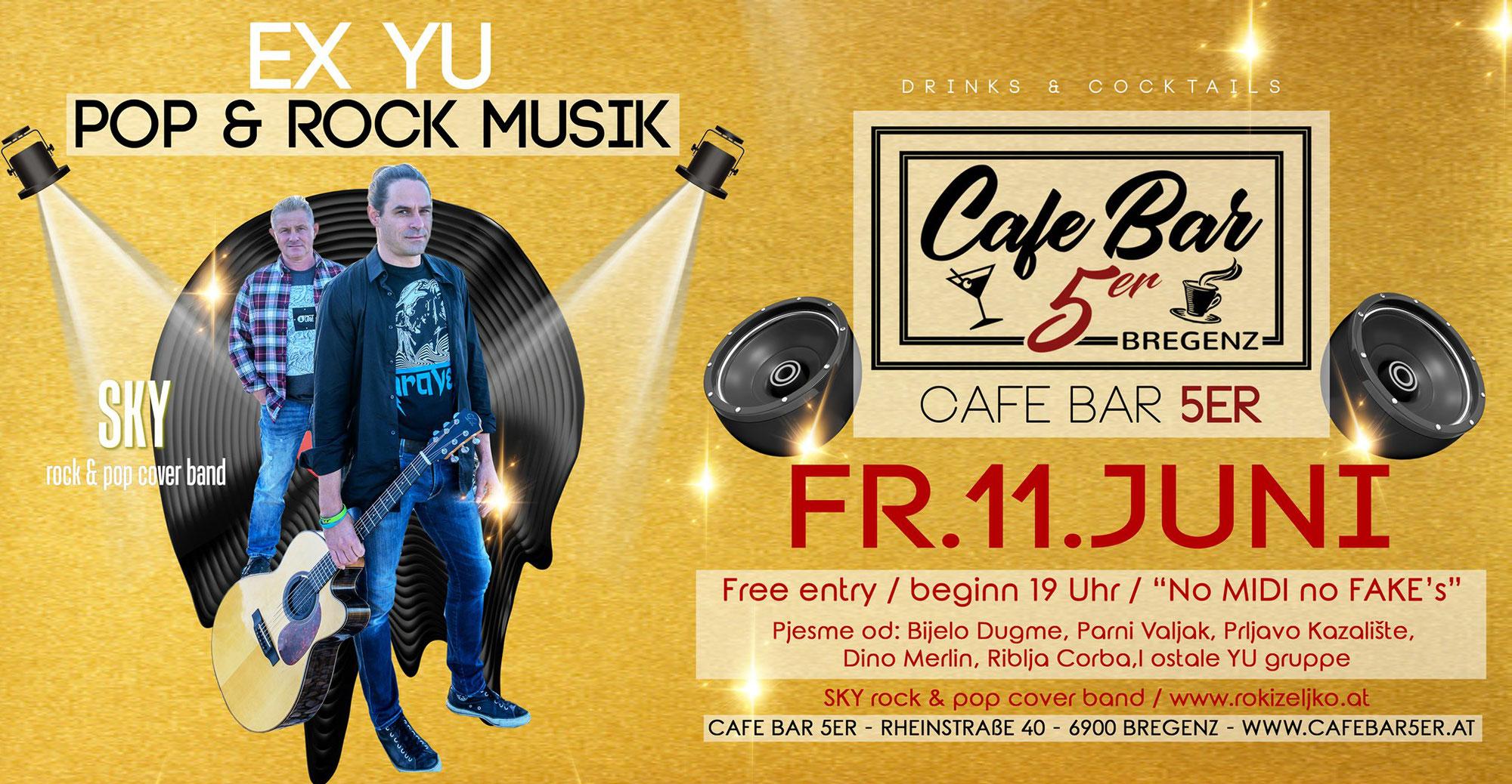 SKY Live in Bregenz Cafe-Bar 5er