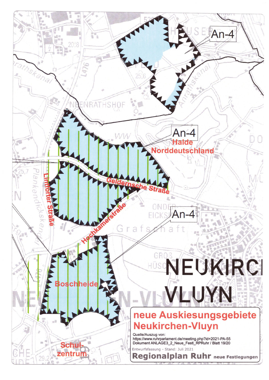 Geplante Auskiesung Neukirchen-Vluyn