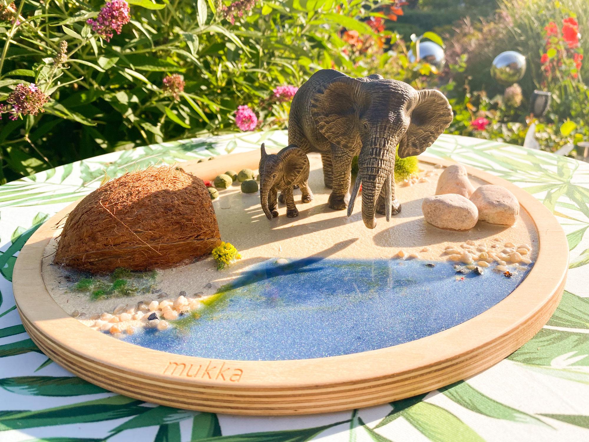 Spiel- und Lerntabletts aus Naturmaterial- Mukkasenso