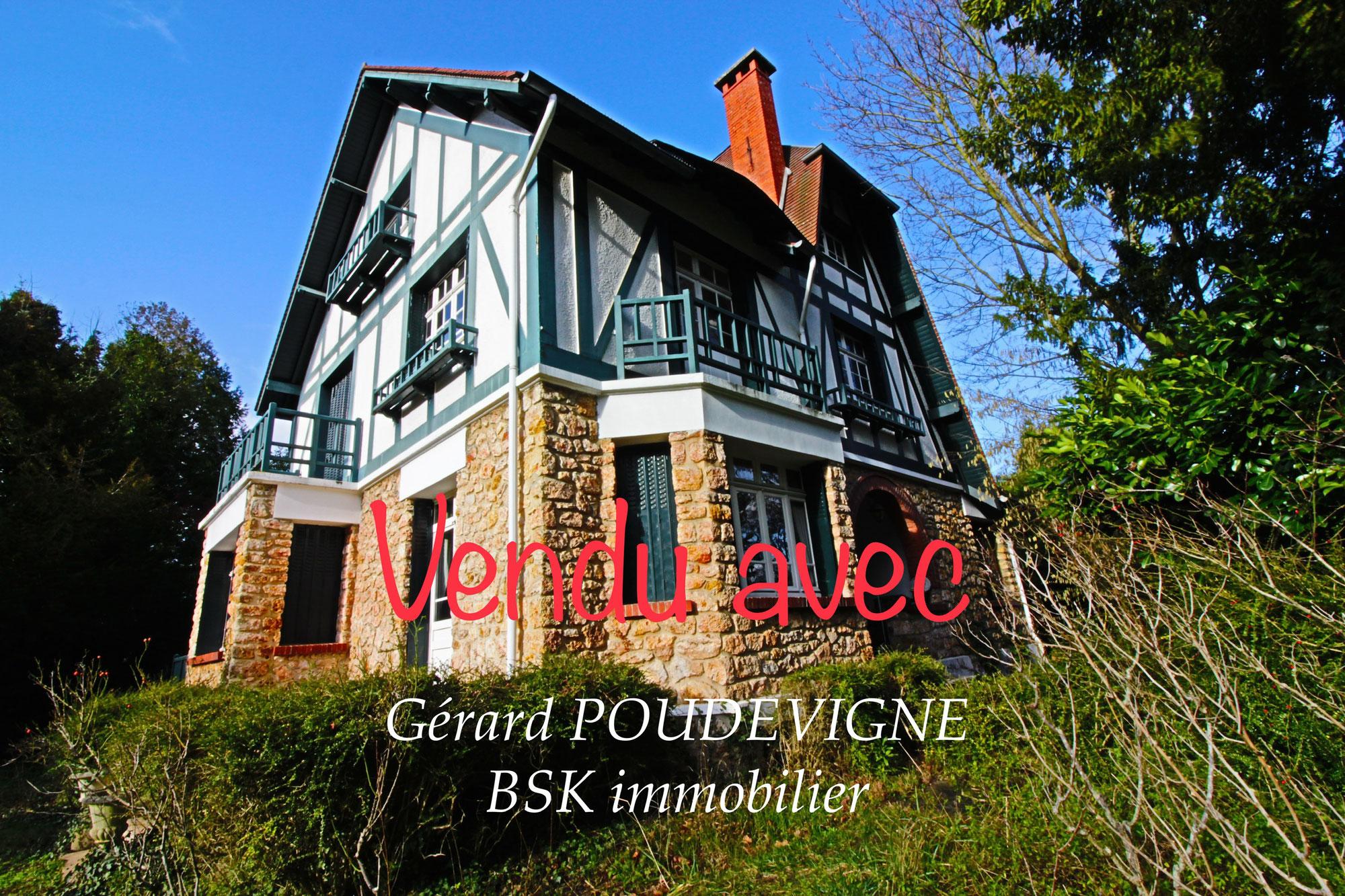 Vendu avec Gérard POUDEVIGNE: remarquable Néo- Normande au pied de St Germain en Laye. 5 chambres + bureau.