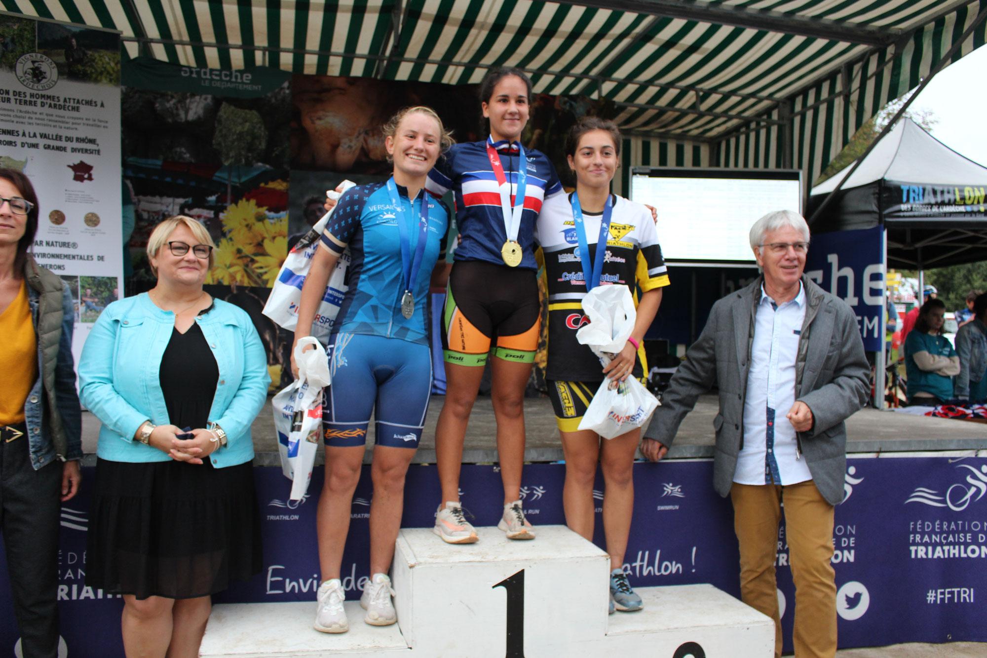 Solène SICK Championne de France junior de cross triathlon