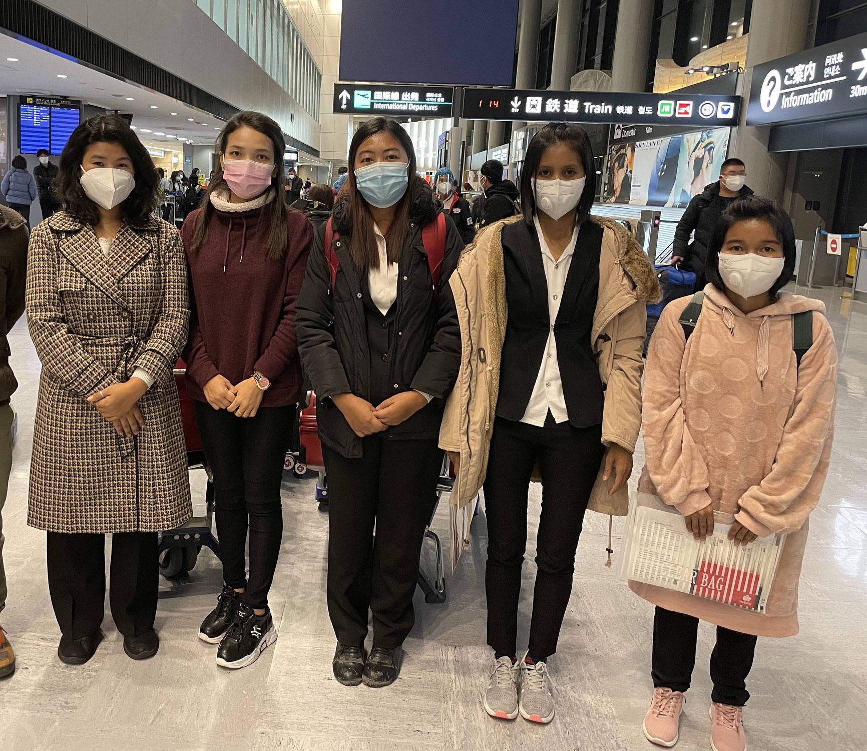 【特定技能】入国制限直前でミャンマー、ベトナムの9人が来日しました