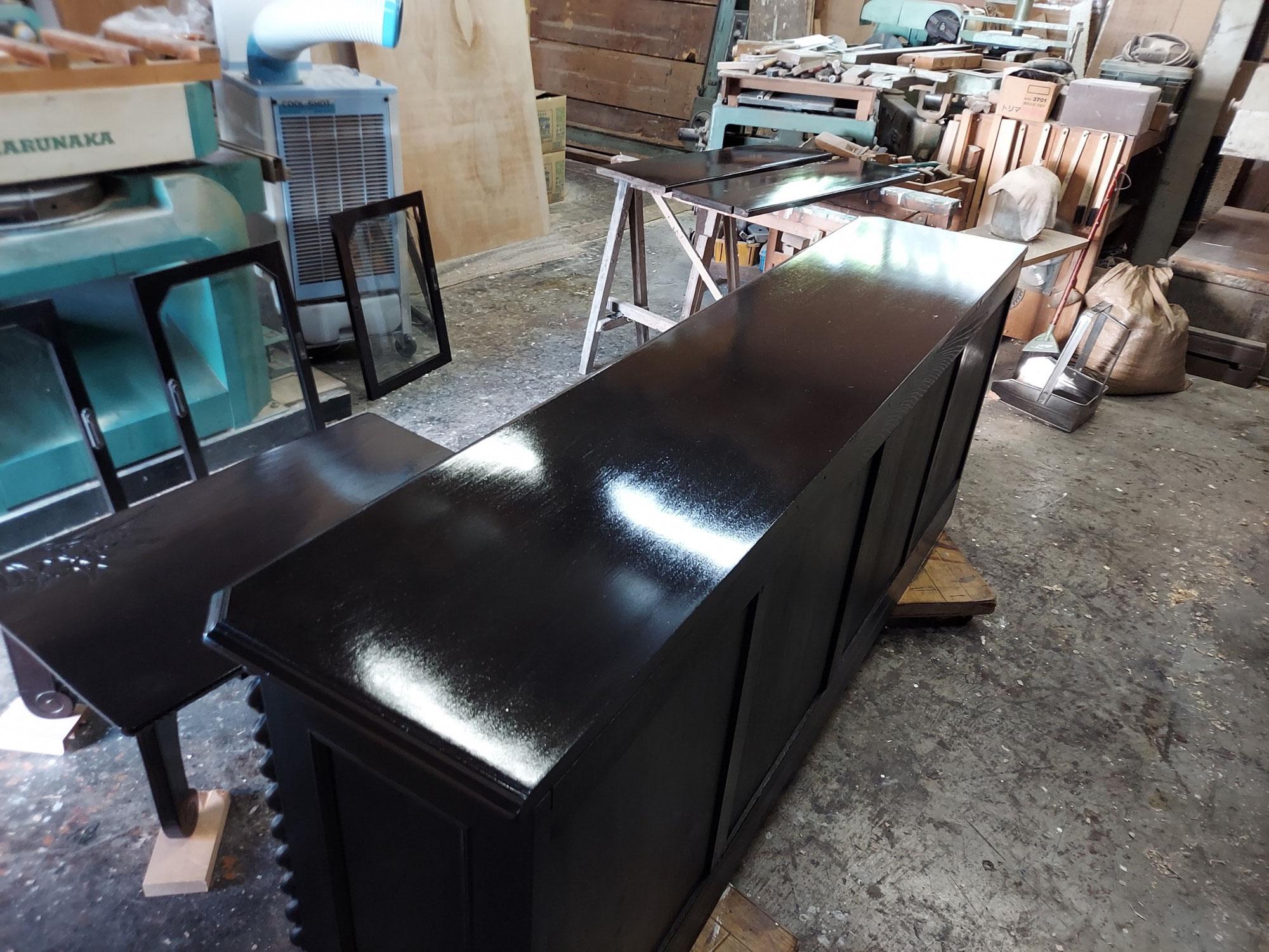 テーブル及びラック塗装工事 施工実績