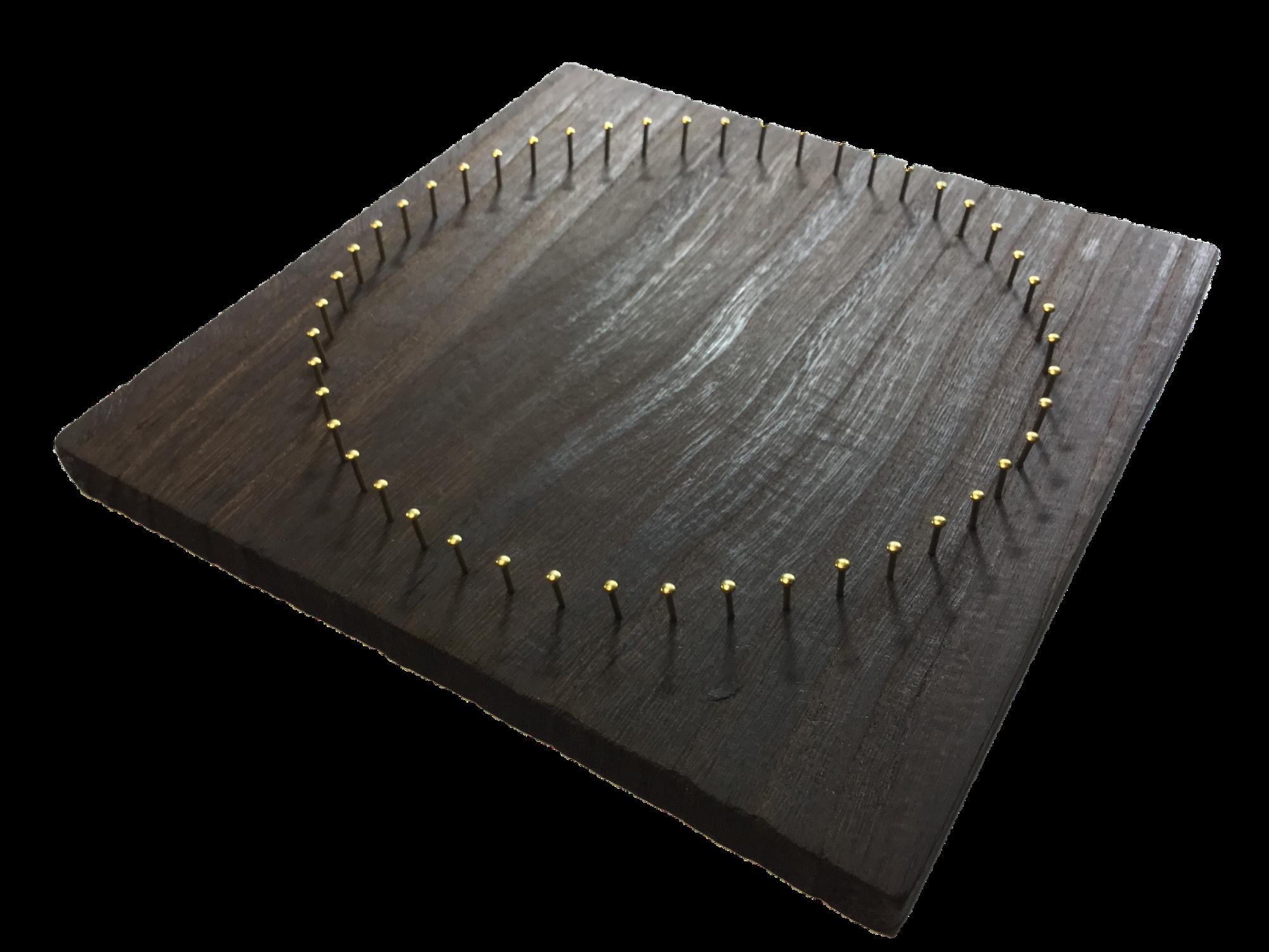 糸かけ曼荼羅48ピン焼桐板