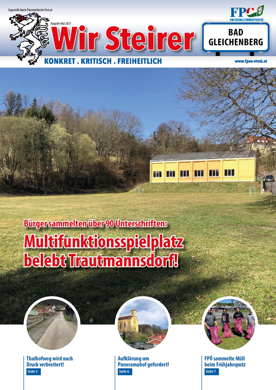 Aktueller Ortskurier der FPÖ Bad Gleichenberg