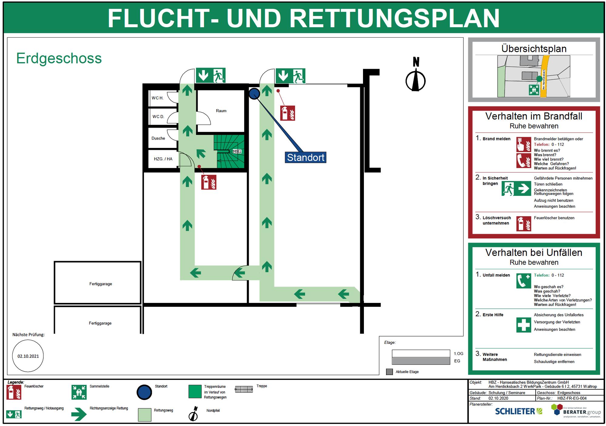 AKTION !!!  Flucht- und Rettungspläne nach DIN ISO 23601