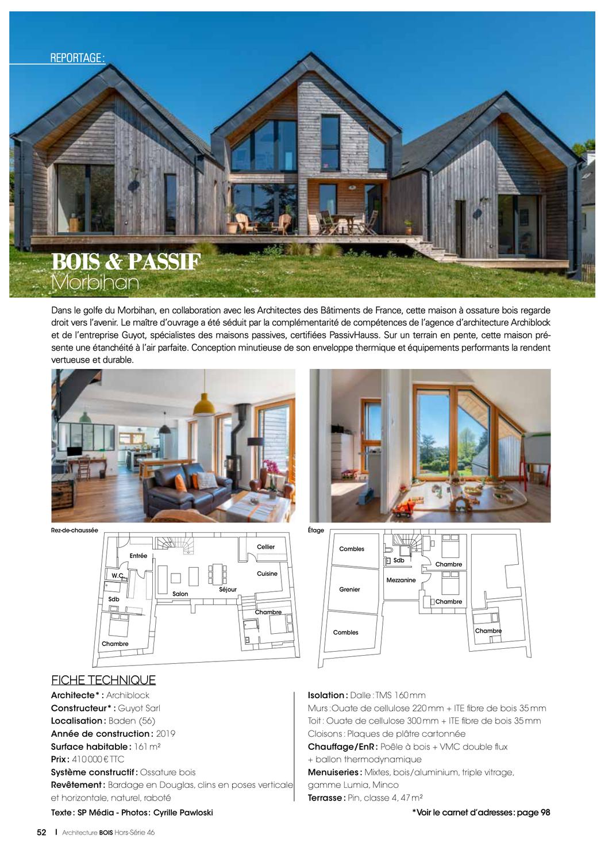 Publication dans le hors série Architecture Bois