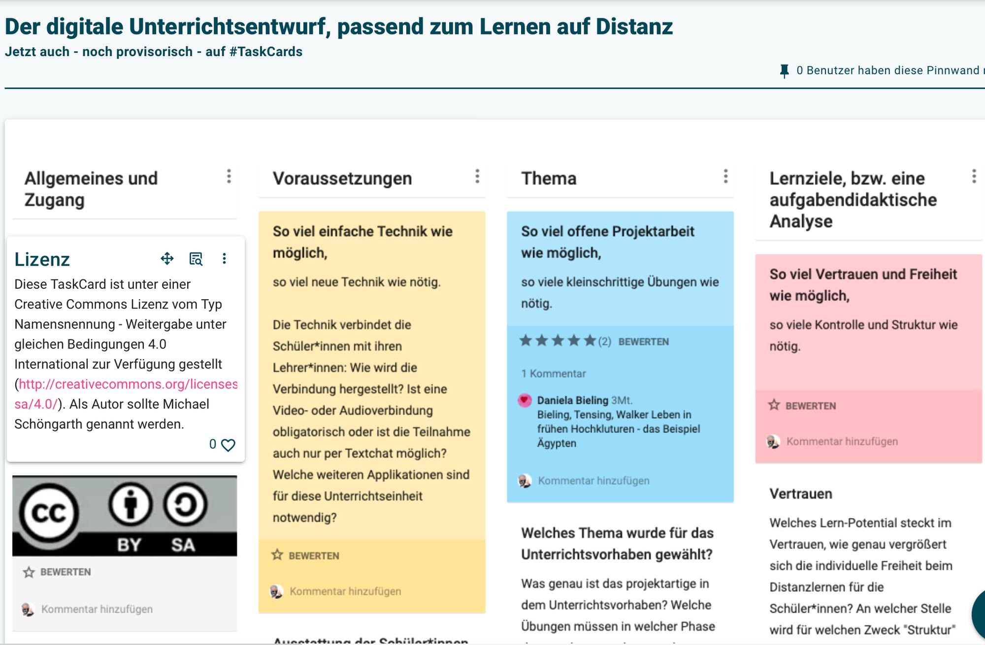TaskCards - provisorischer Padlet-Umzug via Tafel-Template