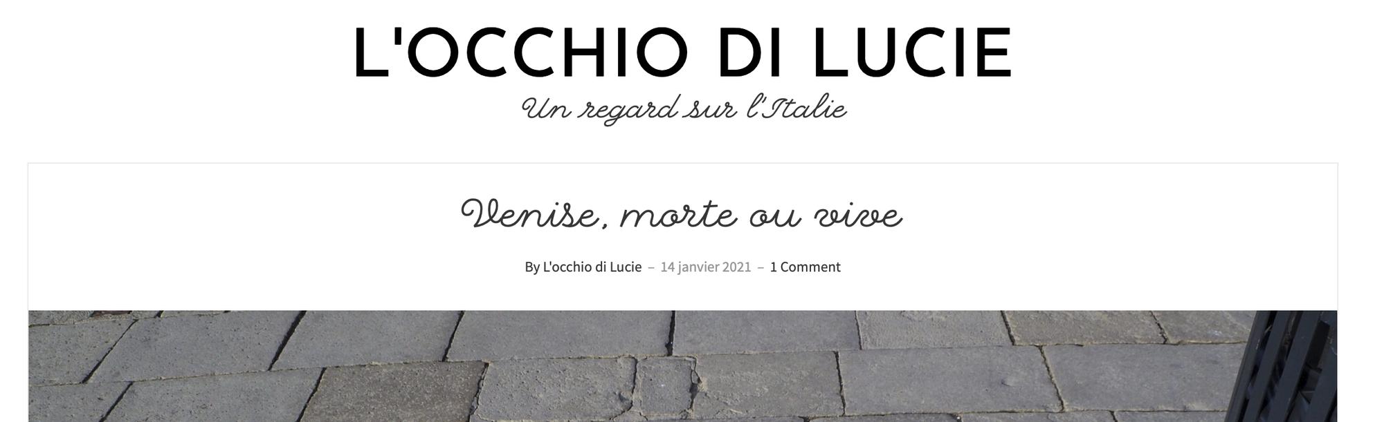 """Annotazioni riguardanti l'articolo """"Venise, morte ou vive"""""""