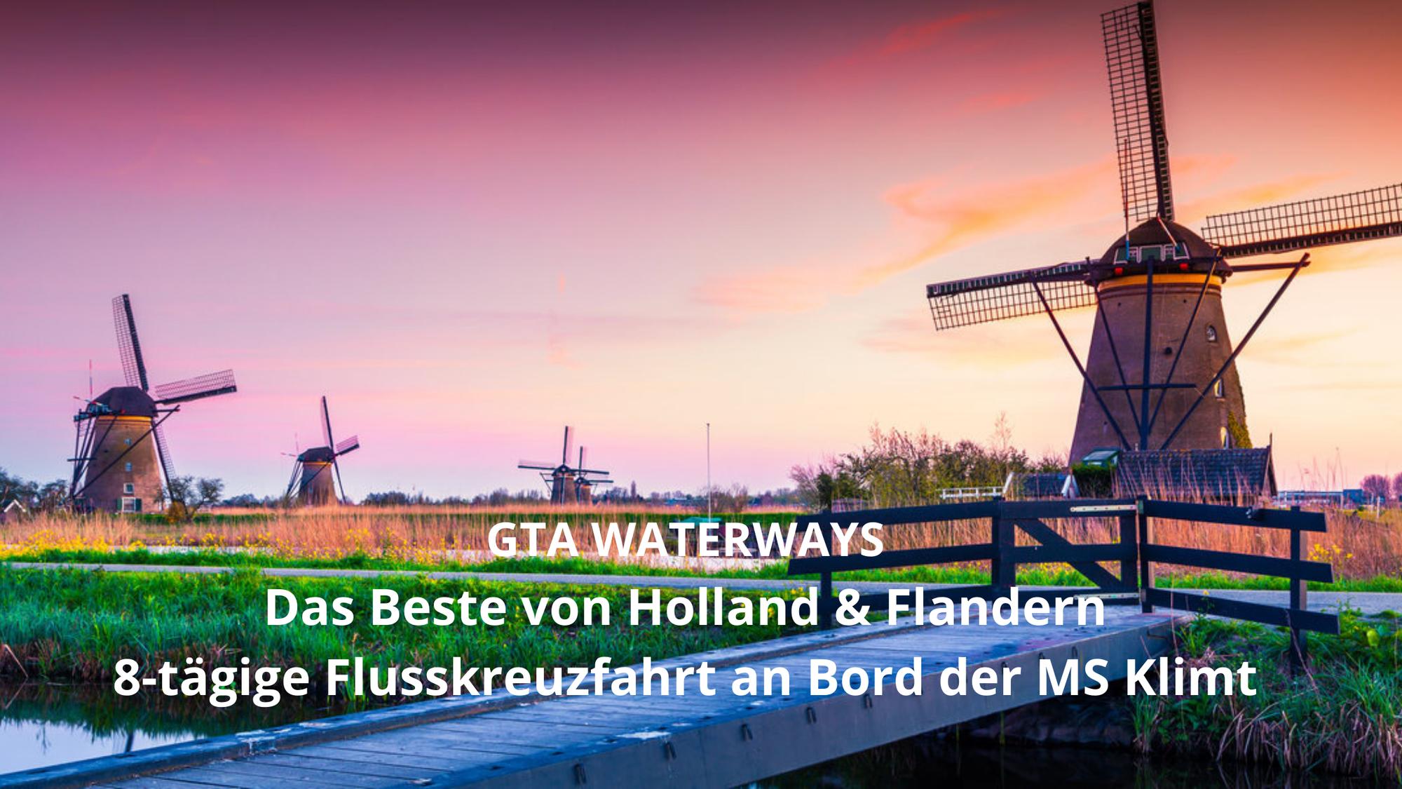 Virtuelle Flusskreuzfahrt mit der MS Klimt durch Holland und Belgien