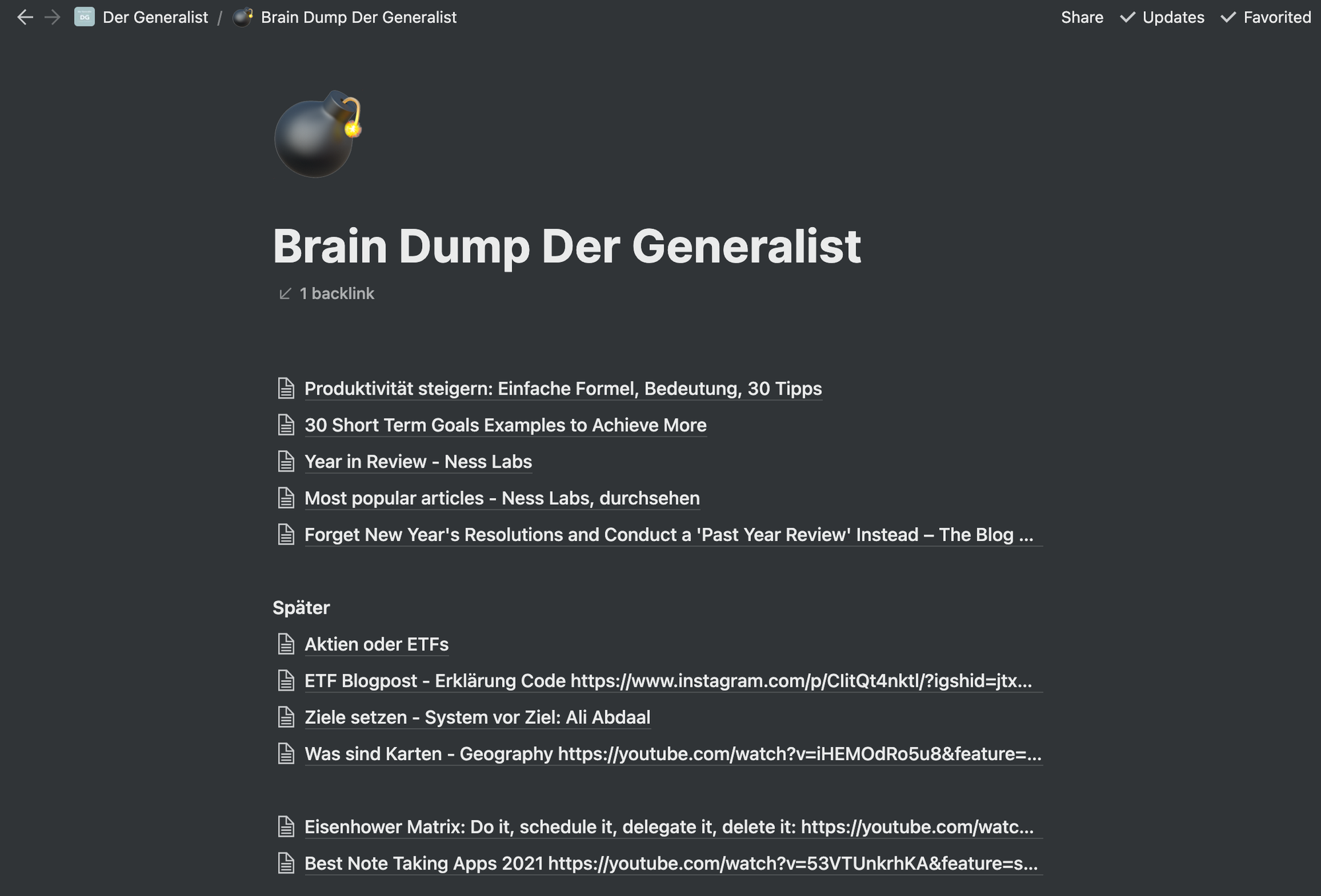 Brain Dump: Dein Gehirn ist dafür da Ideen zu haben, nicht sie sich zu merken