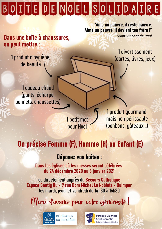 Boîte de Noël Solidaire