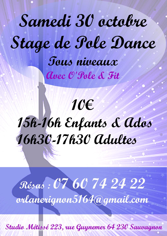 Stage de Pole Dance Samedi 30 Octobre