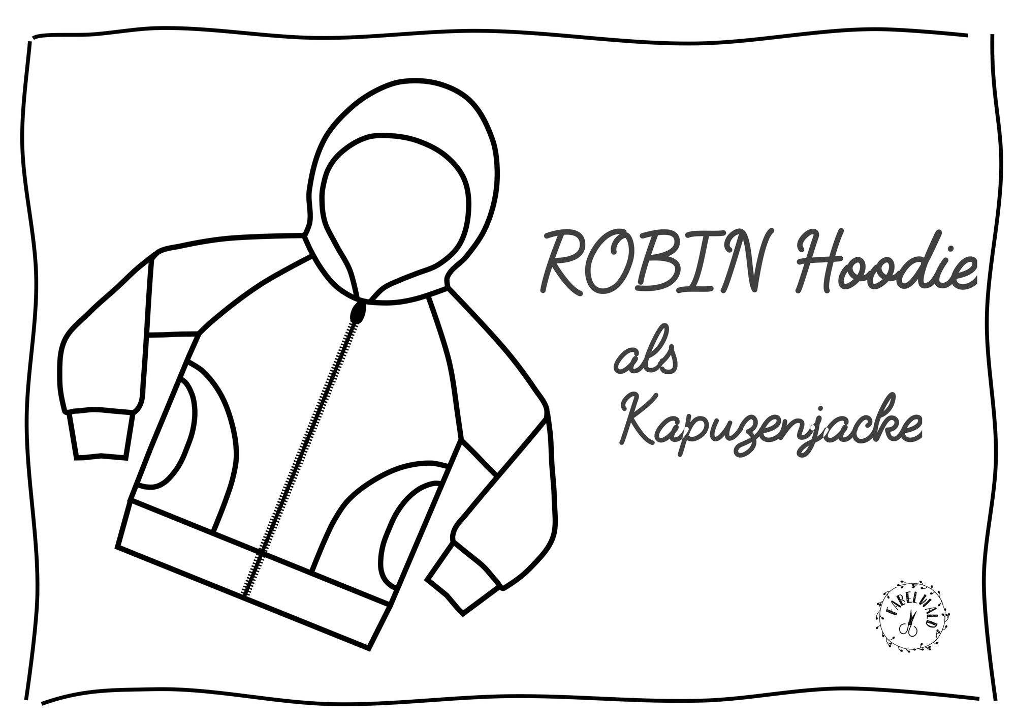 ROBIN Hoodie als Kapuzenjacke mit Reißverschluss