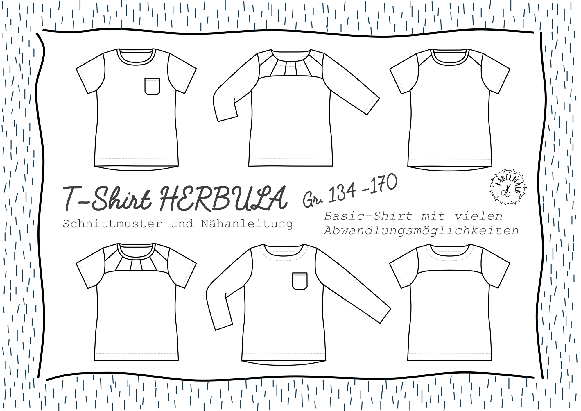 Neues Schnittmuster: T-Shirt HERBULA