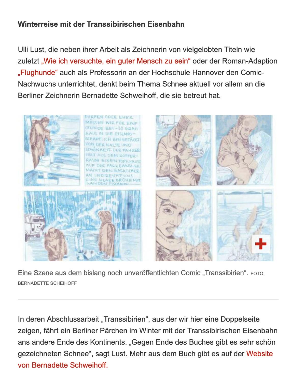 Die schönsten Schnee-Comics der Welt