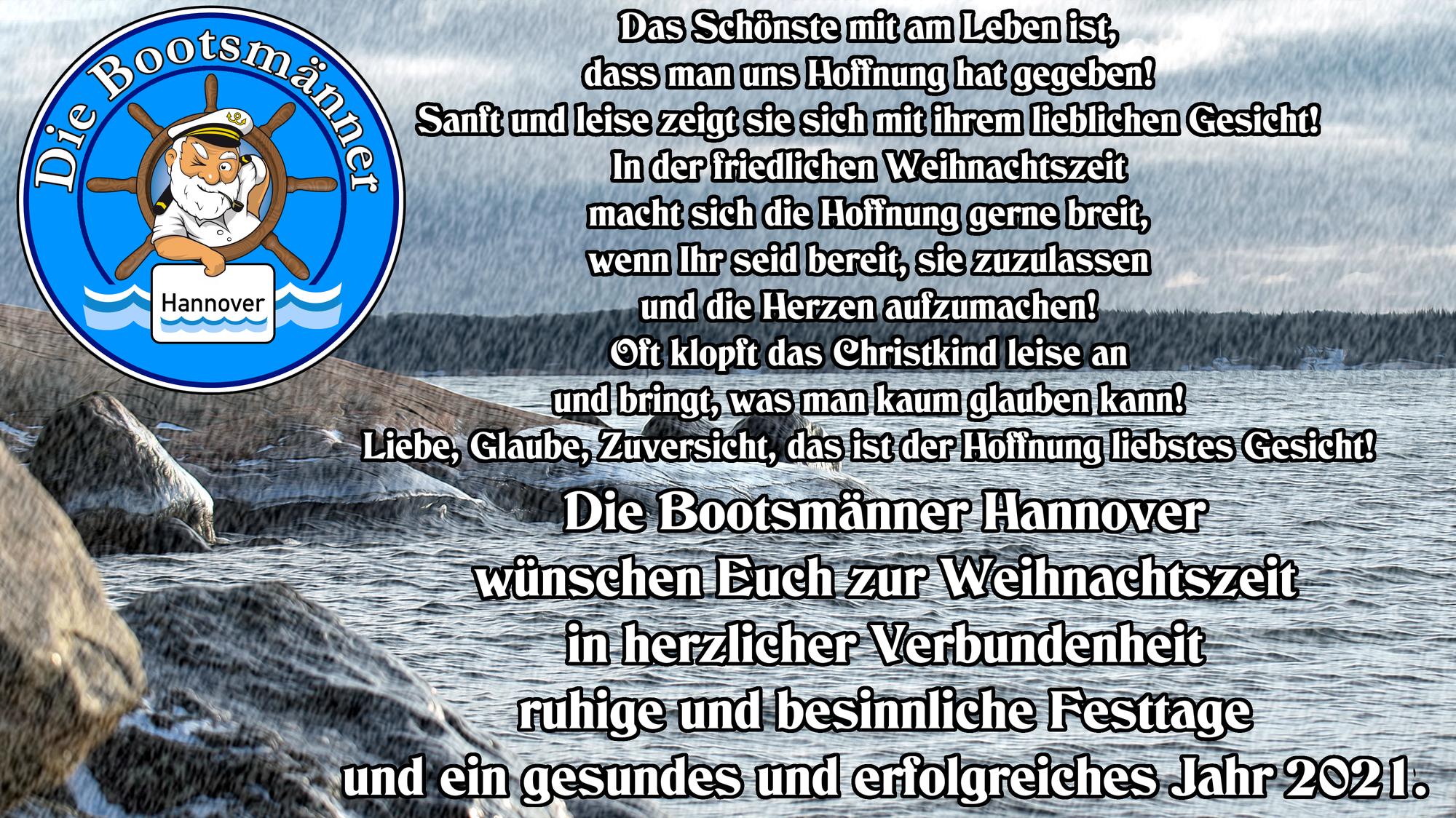Die Bootsmänner Hannover wünschen Euch frohe Weihnachten