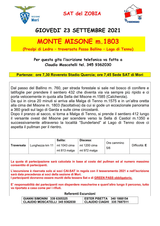 MONTE MISONE m. 1803