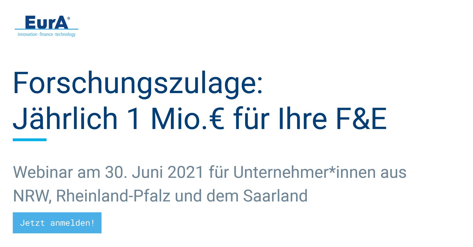 Webinar zur Forschungszulage: Bis 1 Mio. € jährlich für Ihre F&E-Maßnahmen
