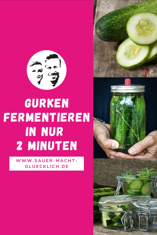 Dein 2 Minuten Rezept - Fermentierte Gurken