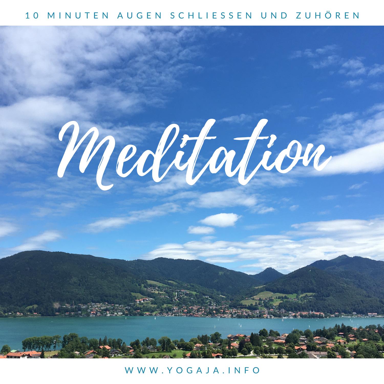 "Meditation als Entspannung ""Berg"""