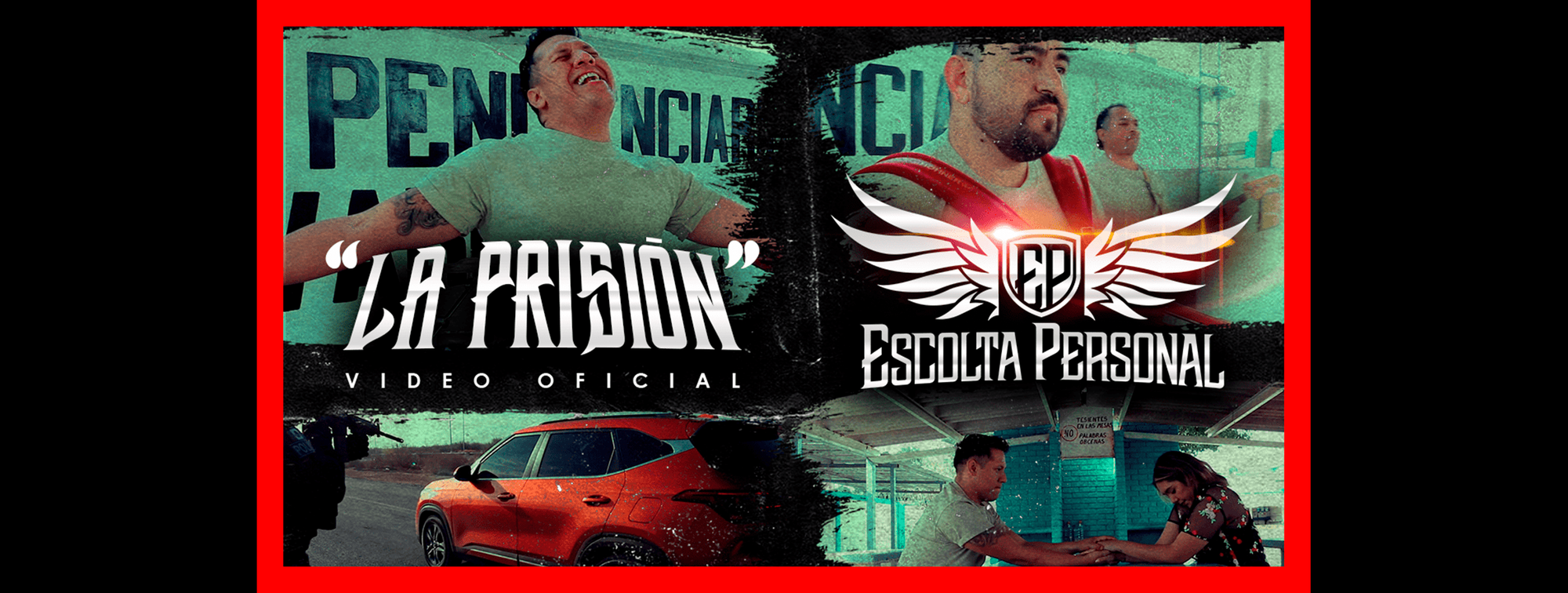 "Mira aquí el nuevo Video Oficial de ""Escolta Personal"" La Prisión, disponible en Youtube y todas las Plataformas Digitales"