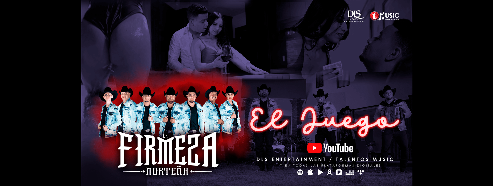 """DLS Entertainment y Talentos Music LLC presentan """"El Juego"""" el más reciente Sencillo y Video Oficial de """"La Firmeza Norteña"""" Disponible en Plataformas Digitales"""