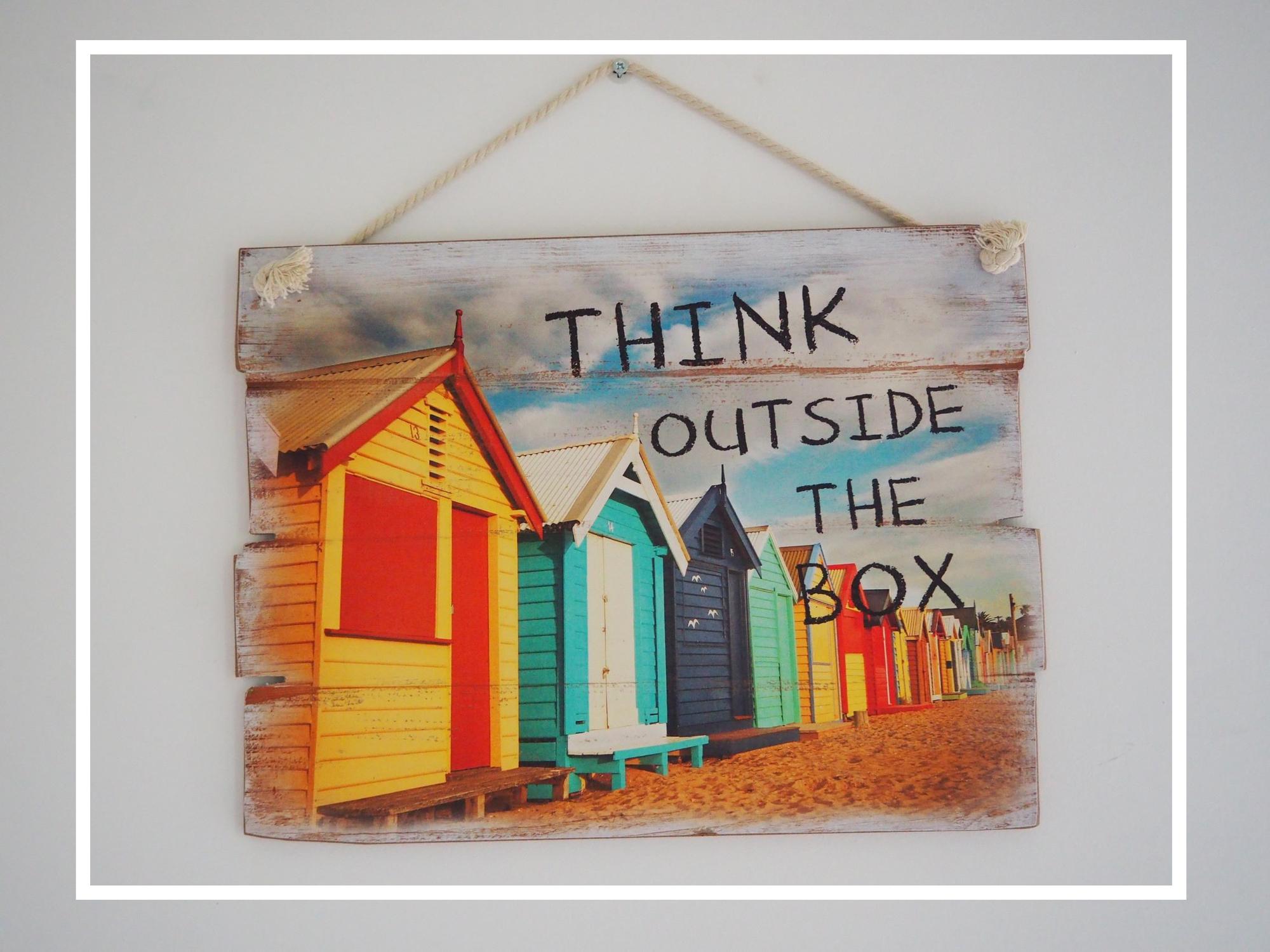 Think outside the box – das Abenteuer zu Leben