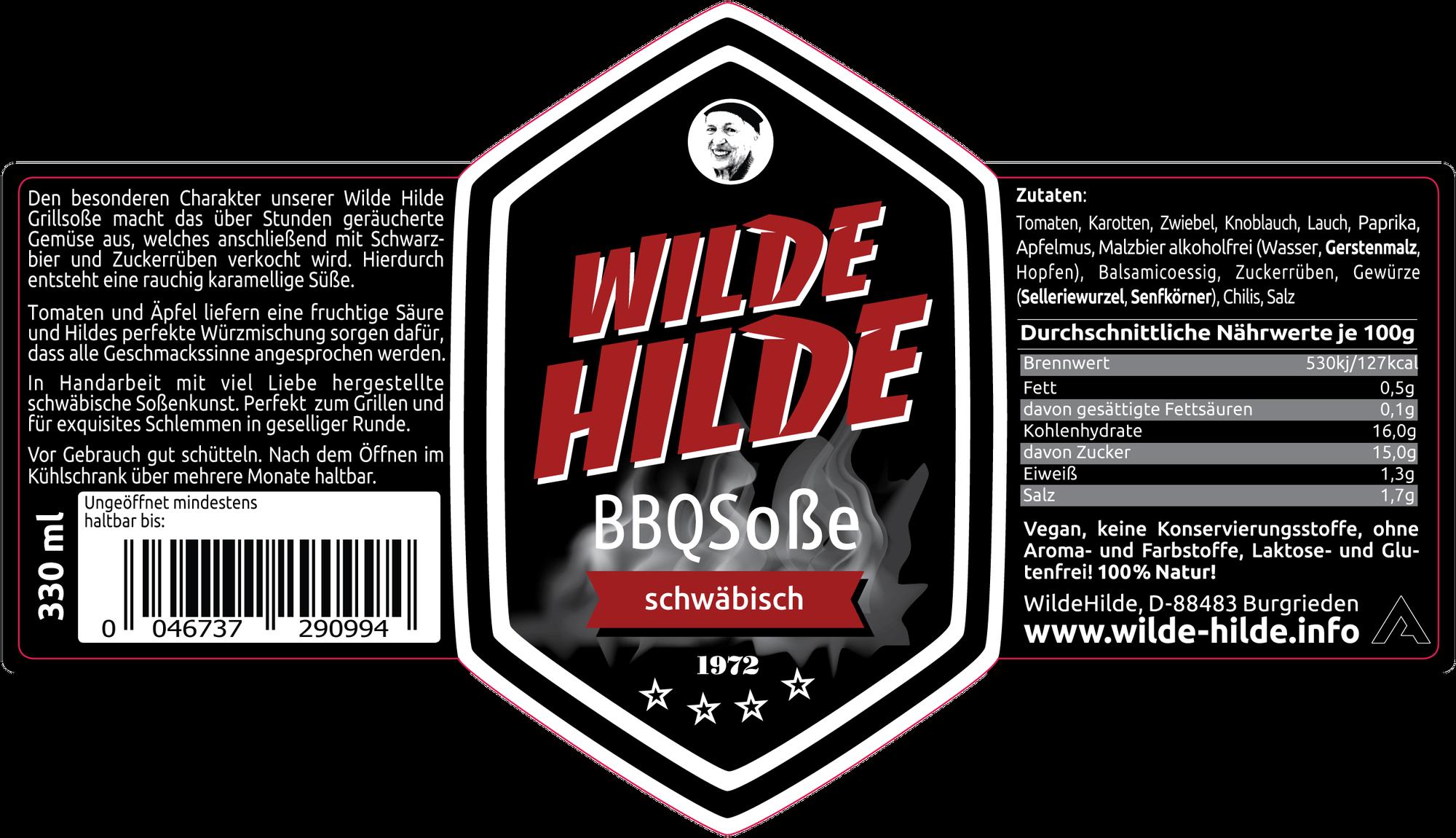 Wilde Hilde schwäbische BBQ Soße mit Schwarzbier