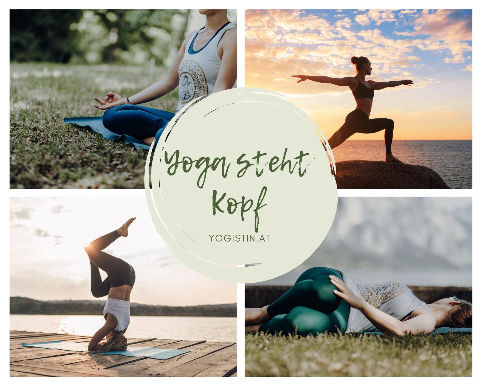 Yoga steht Kopf