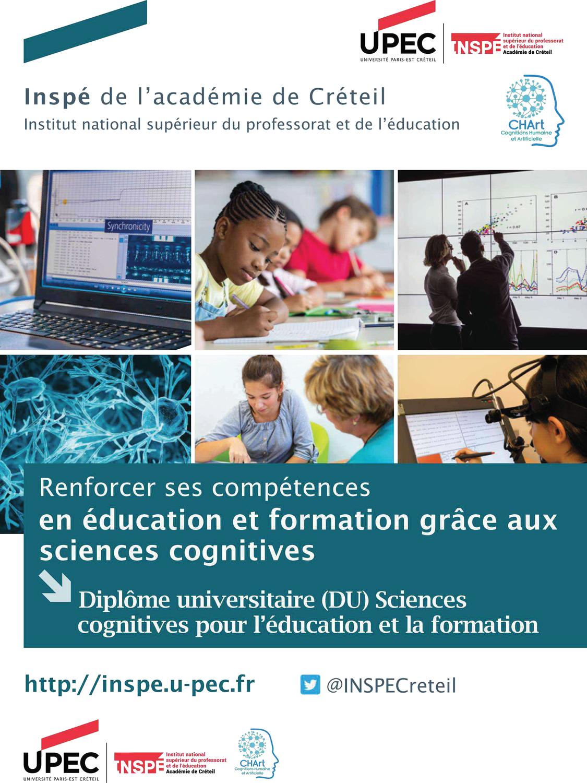 Ouverture des inscription - DU Sciences Cognitives pour l'Education