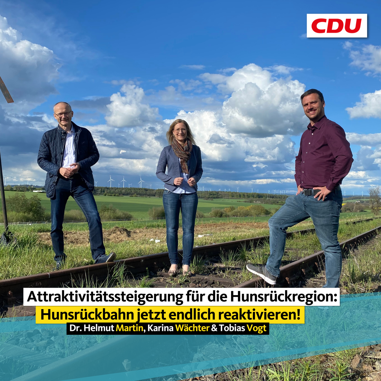 Attraktivitätssteigerung für die Hunsrückregion: Hunsrückbahn jetzt endlich reaktivieren!