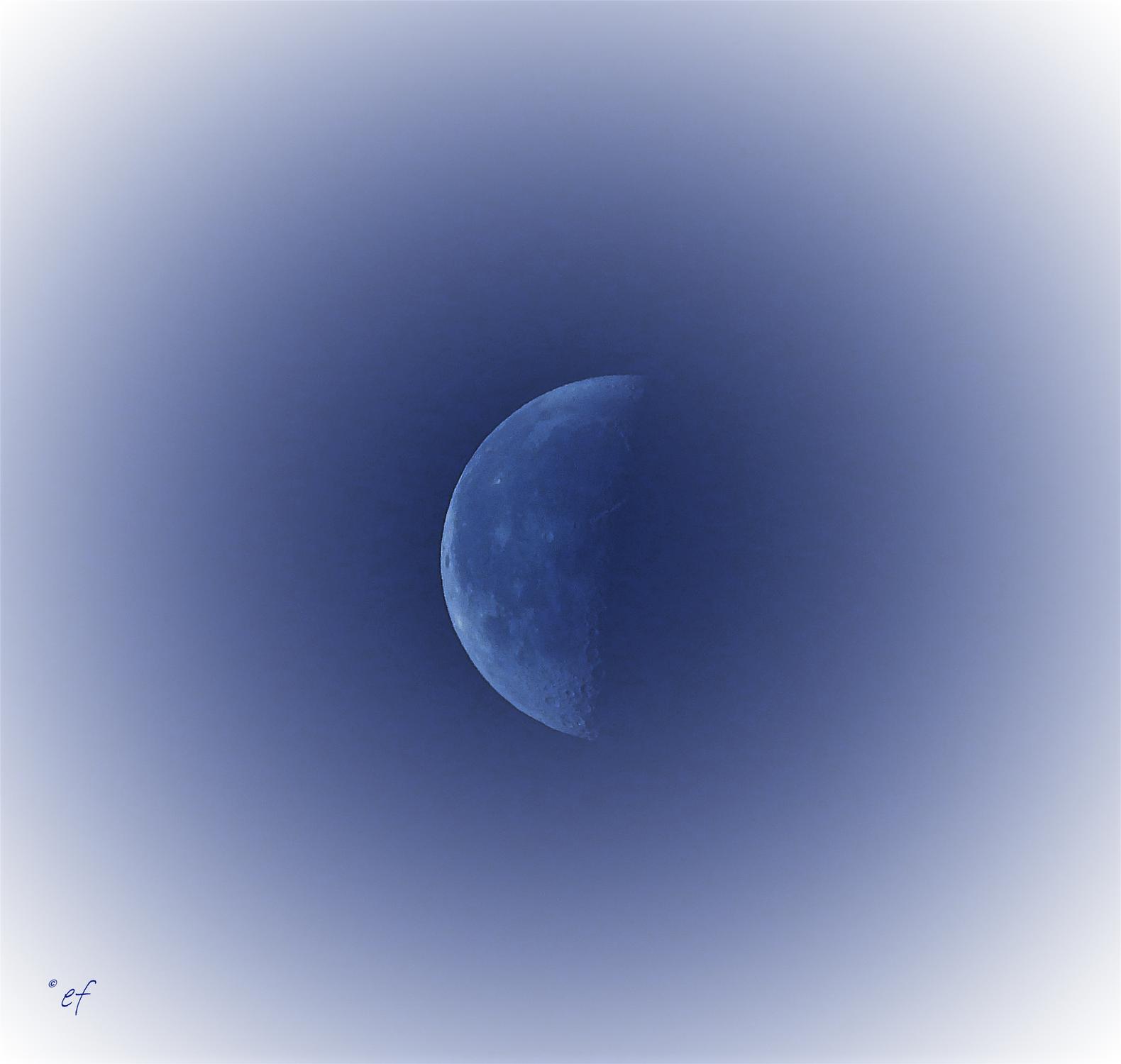Der abnehmende Mond