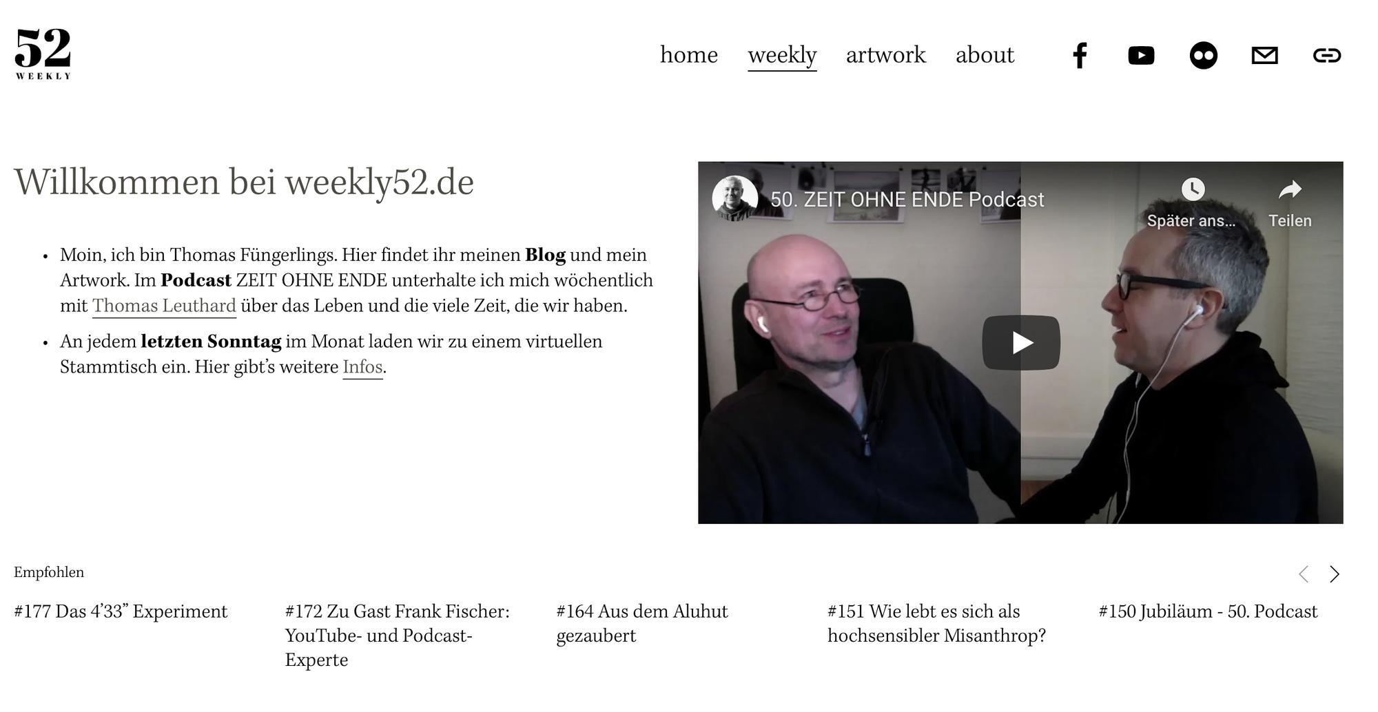 thomas-fuengerlings.de ist seit Sommer 2020 umgezogen zu weekly52.de