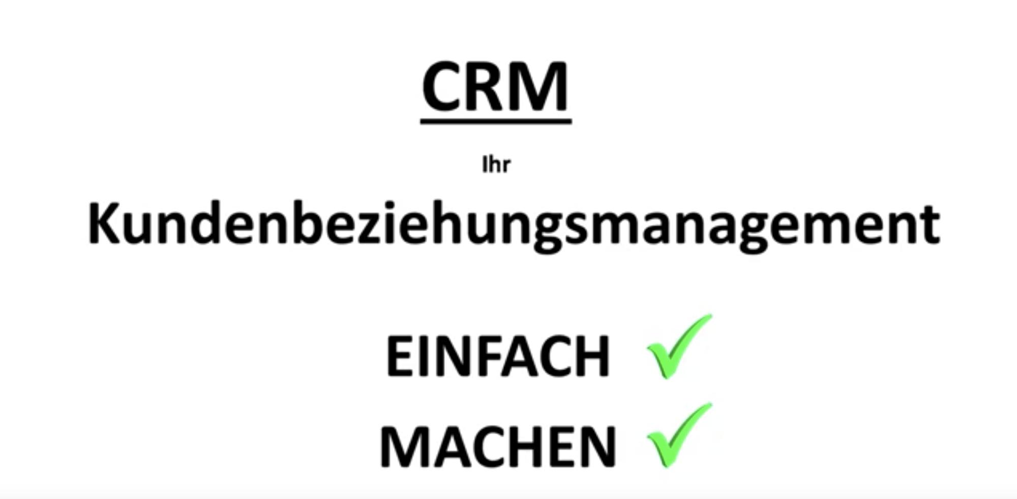 CRM - einfach - machen