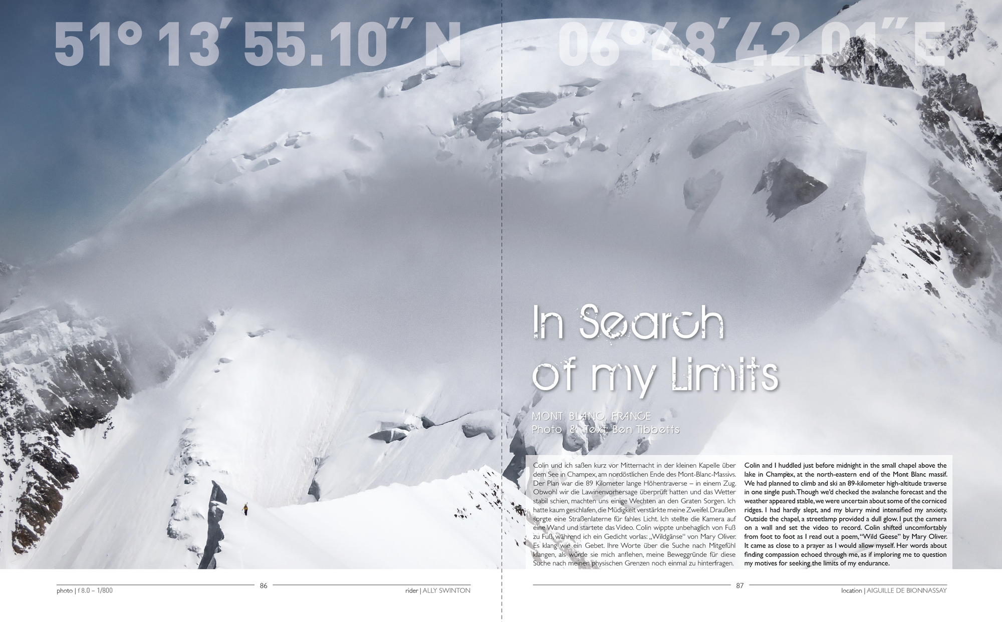 """""""In Search of my Limits"""" - Backcountry Skiing Story by Ben Tibbetts"""
