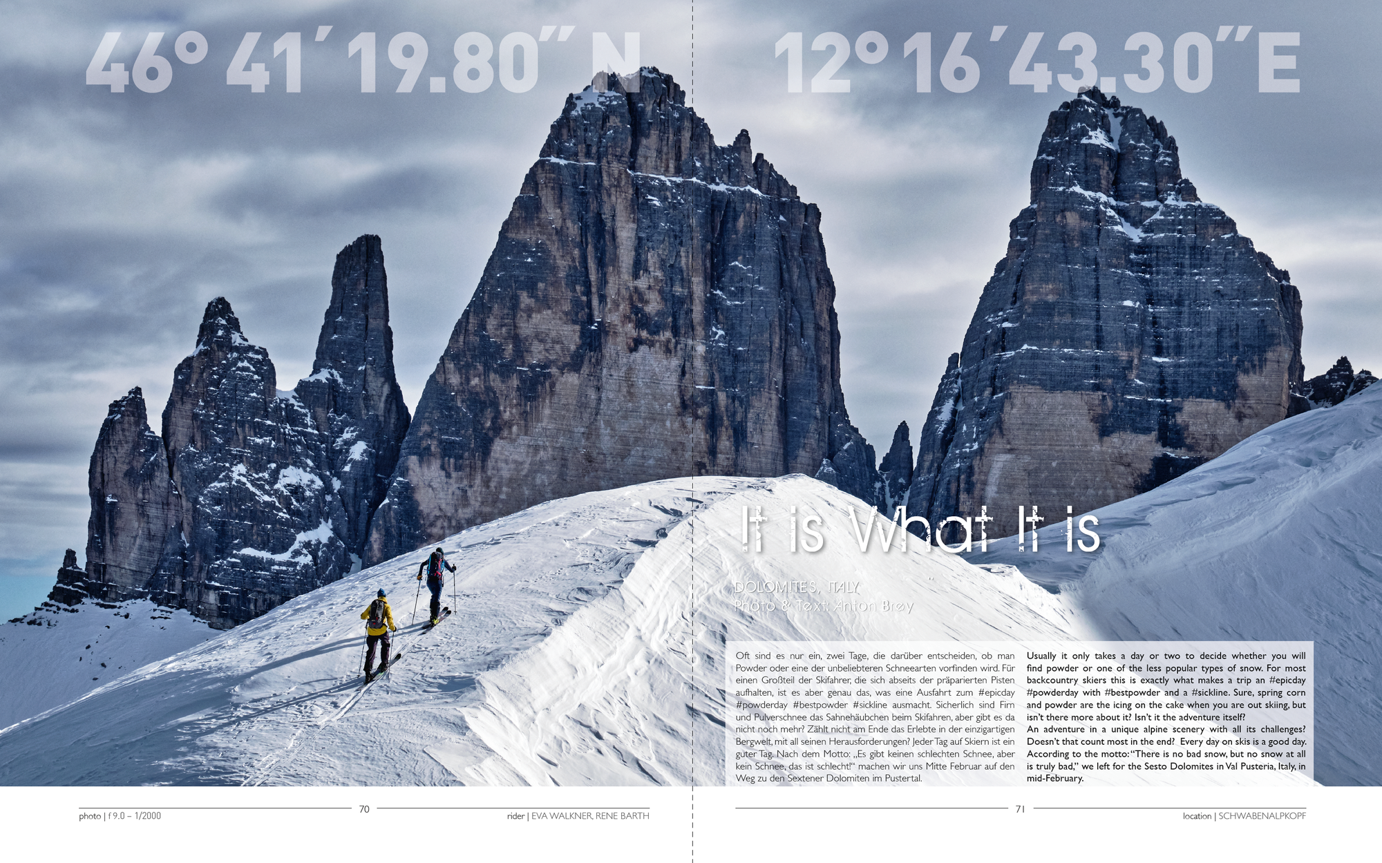 """""""It is What It is"""" - Backcountry Skiing Story by Anton Brey"""
