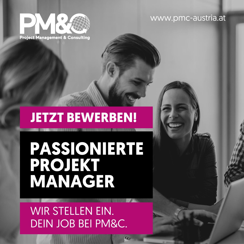 Möchten Sie Unternehmen bei der Abwicklung und Optimierung ihrer Projekte unterstützen? Ihr zukünftiger Job bei PM&C.